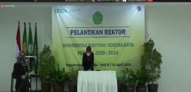 UNISA Yogyakarta Melangsungkan Pelantikan Rektor Secara Daring