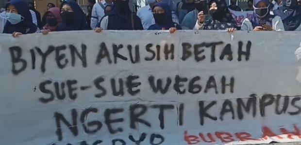 Demo di UNIBA Surakarta, Ketua Yayasan di Tuntut Lengser!