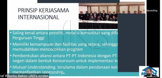 Rektor UNS: Perguruan Tinggi di Indonesia Perlu International Scientists Collaboration