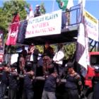 5.000 Umat Islam Klaten Long March dari Al Aqsho Menuju Tugu Adipura, Desak DPR Cabut RUU HIP.