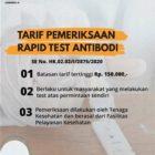 Kemenkes Tetapkan Batas Tarif Tertinggi Rapid Test Covid-19 Rp 150.000