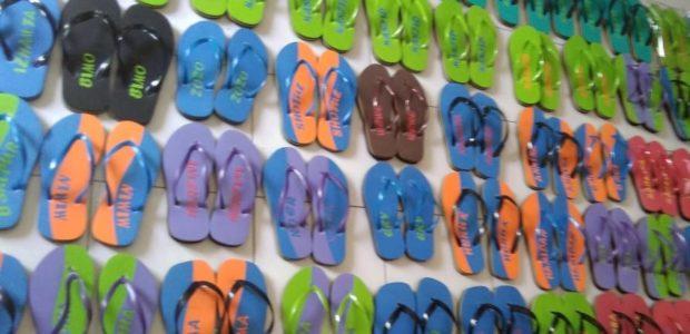 Berkunjung ke Home Industri Sandal Jepit di Lereng Merapi-Klaten-Jawa Tengah.