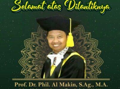 Eko Wiratno : Selamat Atas Pelantikan Prof Al-Makin Sebagai Rektor UIN Sunan Kalijaga 2020-2024.