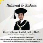 Hari ini, Pengukuhan Guru Besar Hilman Latif di Universitas Muhammadiyah Yogyakarta.