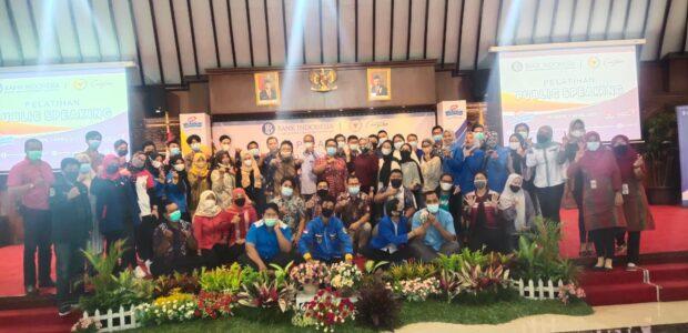PELATIHAN PUBLIC SPEAKING 2021 BARENG BANK INDONESIA DAN ANGGOTA DPD RI DI KABUPATEN KLATEN BERJALAN SUKSES.